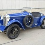 vintage car 1929 - a blue Salmson GS Torpedo
