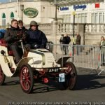 a pre-1905 veteran car in the annual UK London-Brighton veteran car run